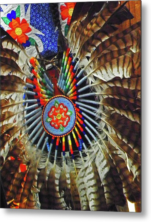 Feather Dancer Metal Print featuring the photograph Lakota Feather Dance by Elizabeth Hoskinson