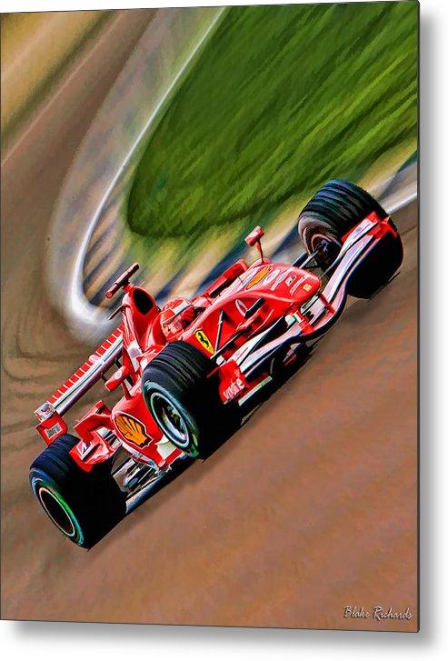 Michael Schumacher Metal Print featuring the photograph Schumacher Bend by Blake Richards