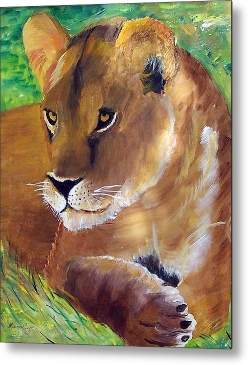 Animal Metal Print featuring the painting Princess by Marcia Paige