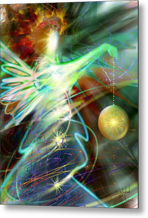 Angel Metal Print featuring the digital art Lite Brought Forth By The Archkeeper by Stephen Lucas