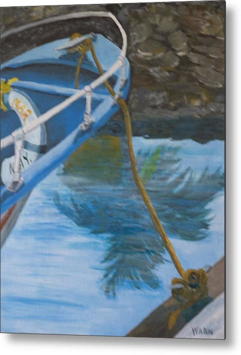 Marine Metal Print featuring the painting Marina Reflections by Anita Wann
