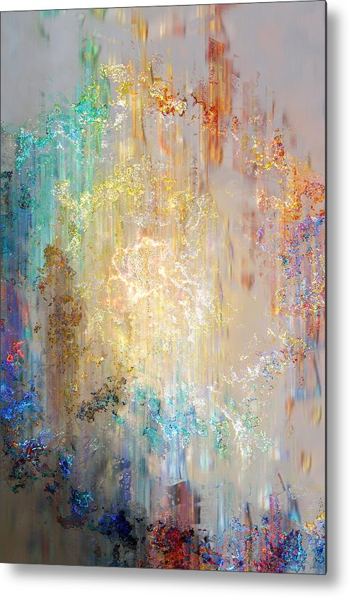 Large Abstract Metal Print featuring the painting A Heart So Big - Abstract Art by Jaison Cianelli