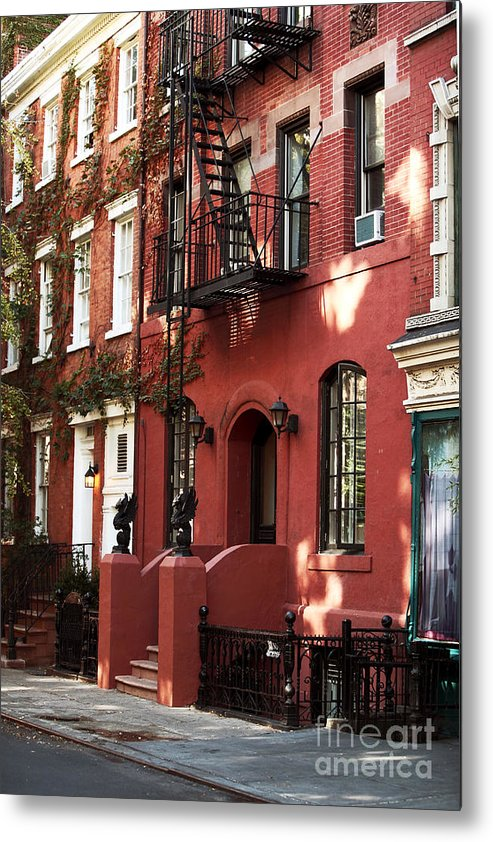 Building Metal Print featuring the photograph Brownstone by John Rizzuto