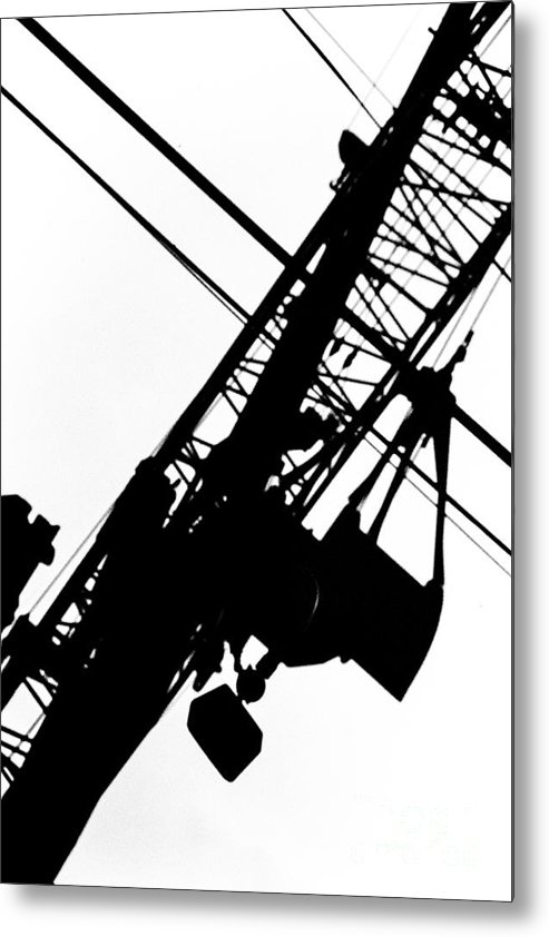 Industrial Abstract Metal Print featuring the photograph Rigging And Shovel by Thomas Carroll