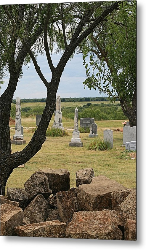 Graveyard Metal Print featuring the photograph The View From This Side by Judith B Adams