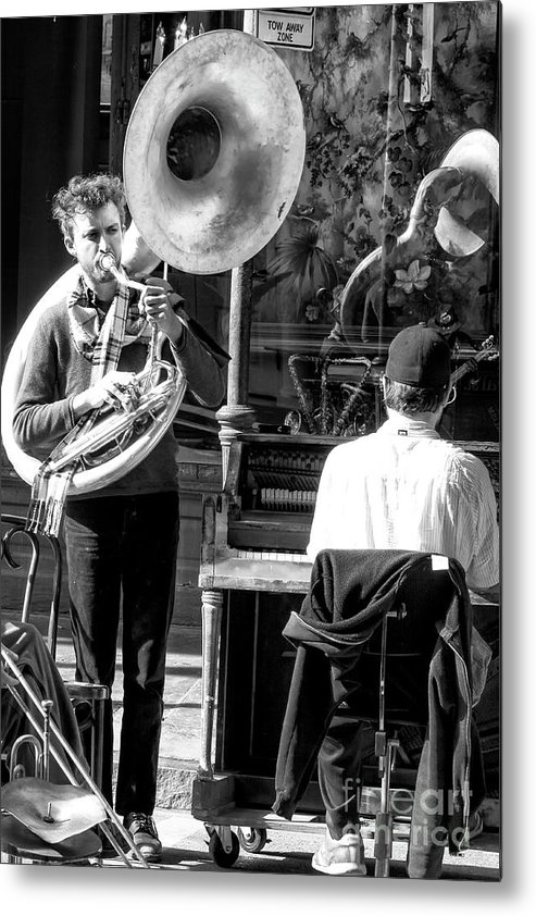 Playing Jazz In New Orleans Metal Print featuring the photograph Playing Jazz In New Orleans by John Rizzuto