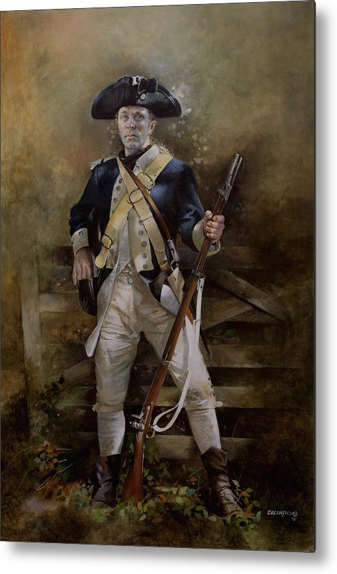 American War Of Independance Metal Print featuring the painting American Infantryman C.1777 by Chris Collingwood