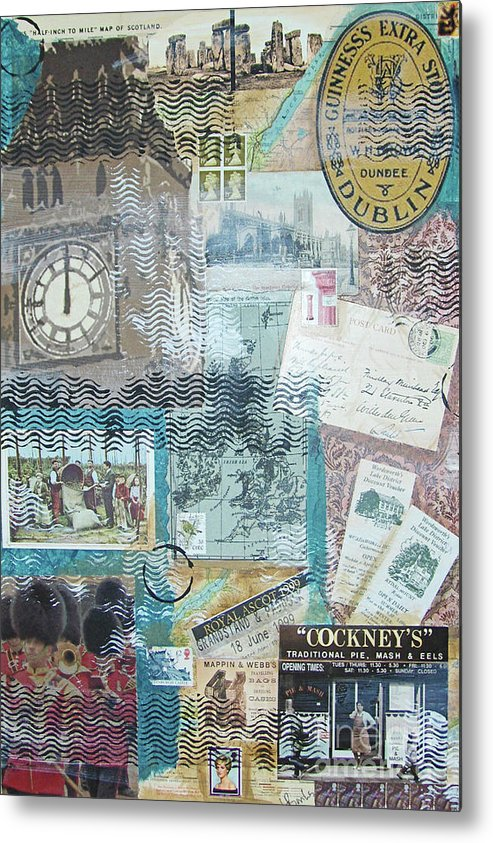 Britain Metal Print featuring the mixed media British Isles by Leigh Banks