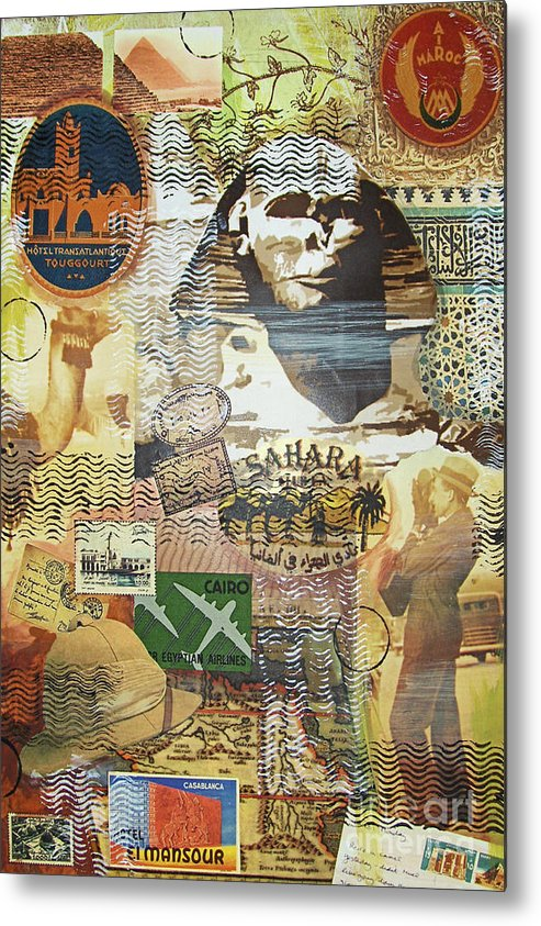Africa Metal Print featuring the mixed media Northern Africa by Leigh Banks