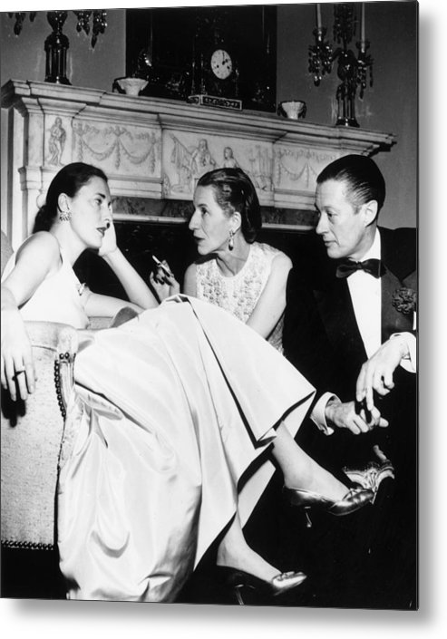 Slim Keith Metal Print featuring the photograph Park Avenue Party by Slim Aarons