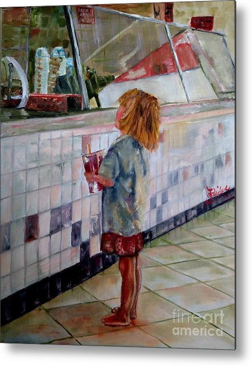 Soda Metal Print featuring the painting Soda Girl by CJ Rider