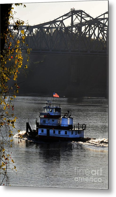 Tugboat Metal Print featuring the photograph the BettyeJenkins by Leon Hollins III