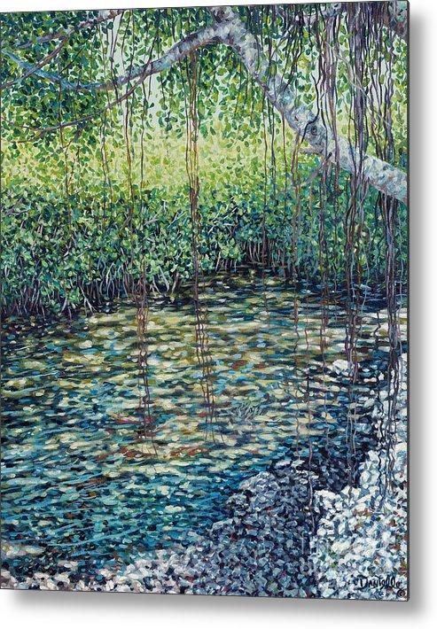 Ocean Reef Club Metal Print featuring the painting Crocodile Creek by Danielle Perry