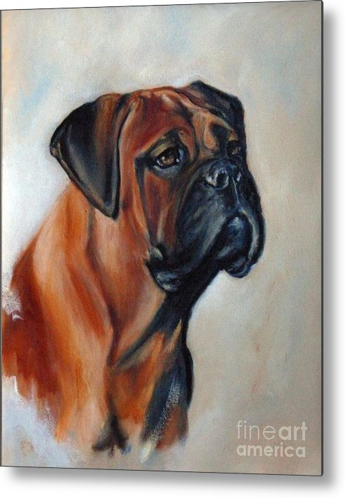 Bullmastiff Metal Print featuring the painting Diva by Adele Pfenninger
