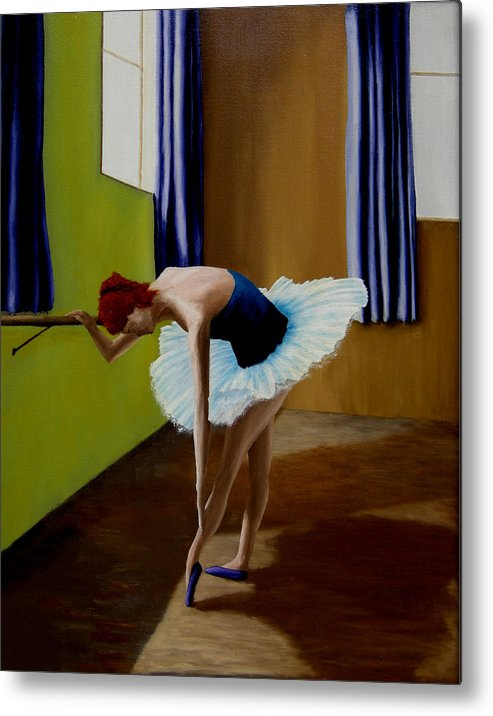 Ballerina Metal Print featuring the painting Light And Shaddow by Ivan Rijhoff