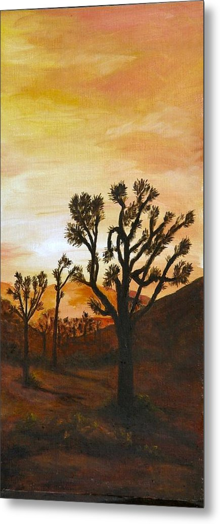 Sunset Metal Print featuring the painting Desert Sunset II by Merle Blair