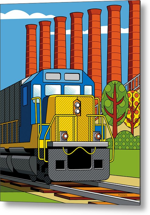 Pittsburgh Metal Print featuring the digital art Homestead Stacks by Ron Magnes