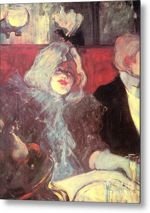Henri De Toulouse-lautrec Paintings Metal Print featuring the painting Soubor by Pg Reproductions