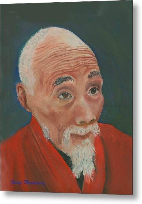 Portrait Metal Print featuring the print Ancient Wisdom by George Markiewicz