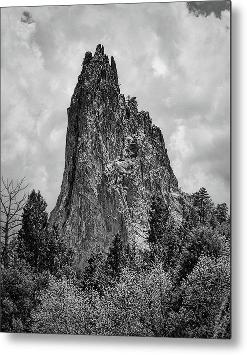 Inspiration Metal Print featuring the photograph Garden Of The Gods Monotone by Edward Moorhead