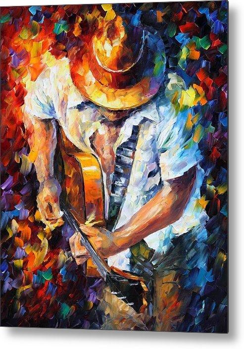 Guitar And Soul by Leonid Afremov