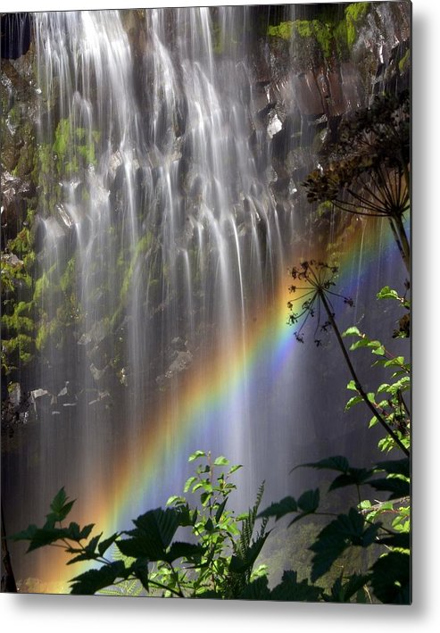 Waterfall Metal Print featuring the photograph Rainbow Falls by Marty Koch