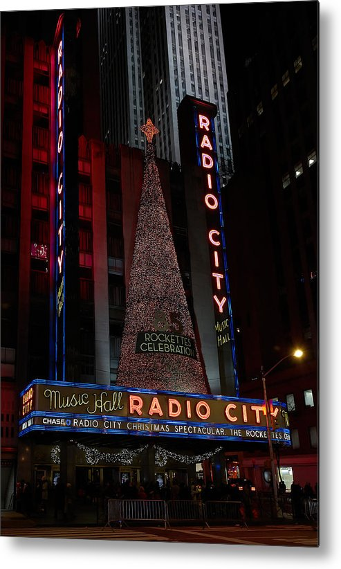 Metal Print featuring the photograph Radio City by John Jude