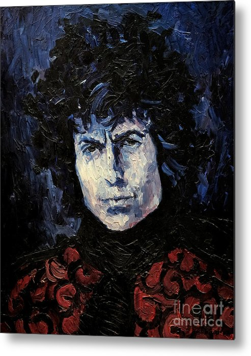 Dylan Metal Print featuring the painting Bob Dylan 1967 by Lutz Baar