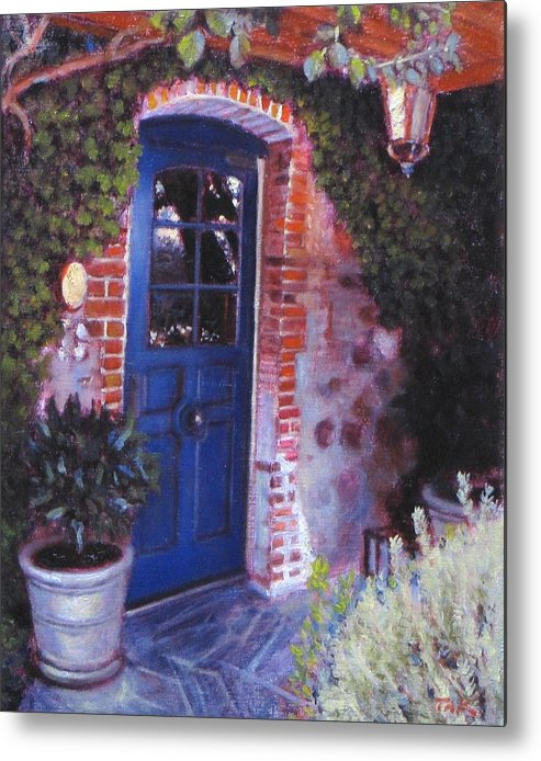 Landscape Metal Print featuring the painting Fine French Restraunt French Laundry With Rosemary by Takayuki Harada