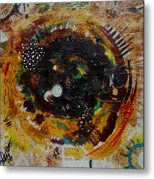 Contemporary African Art Metal Print featuring the mixed media Eye 3 by Mohamed-saeed Omer