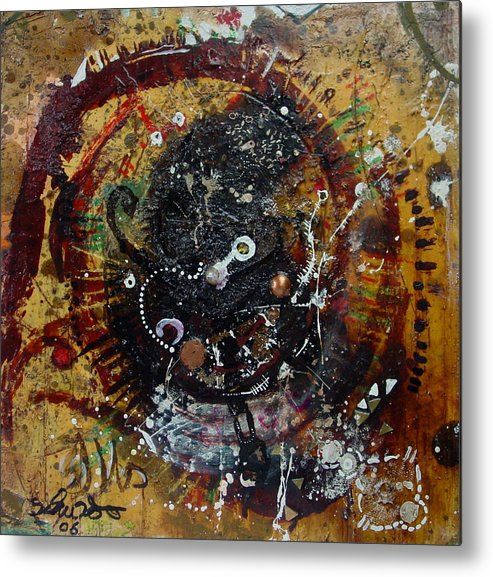 Contemporary African Art Metal Print featuring the mixed media Eye 6 by Mohamed-saeed Omer