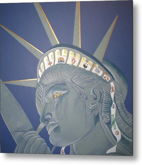 Human Metal Print featuring the painting Remember Her Primary Meaning... by Ingrid Stiehler