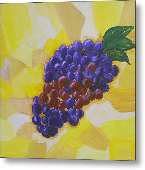 Grapes Metal Print featuring the painting Ripe For The Picking by Marcia Paige