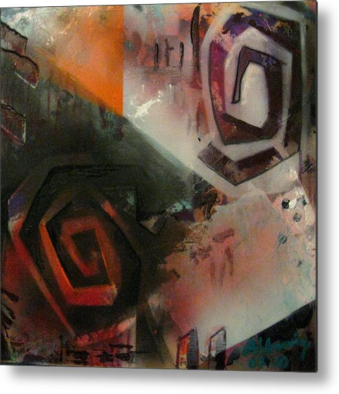 Metal Print featuring the painting Second City Silhouette by Andrea Noel Kroenig