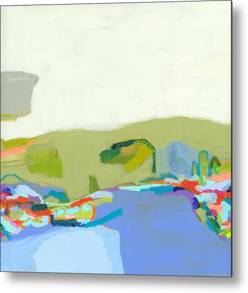 Abstract Metal Print featuring the painting Another Place by Claire Desjardins