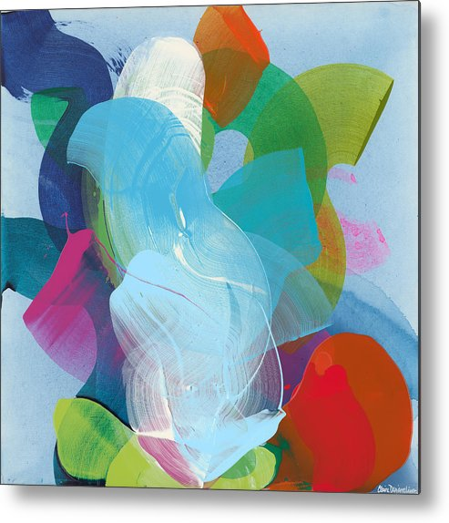 Abstract Metal Print featuring the painting Away A While by Claire Desjardins