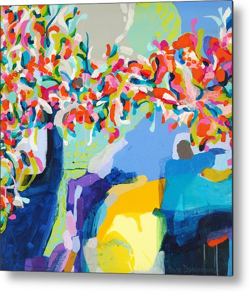 Abstract Metal Print featuring the painting My Vanity by Claire Desjardins