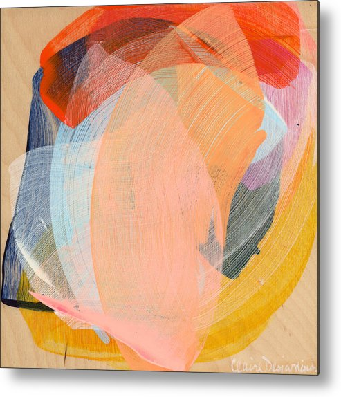 Abstract Metal Print featuring the painting Out Of The Blue 02 by Claire Desjardins