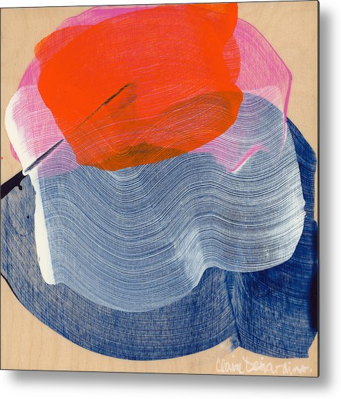 Abstract Metal Print featuring the painting Out Of The Blue 08 by Claire Desjardins