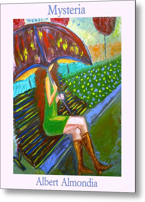 Oil Metal Print featuring the painting Mysteria by Albert Almondia