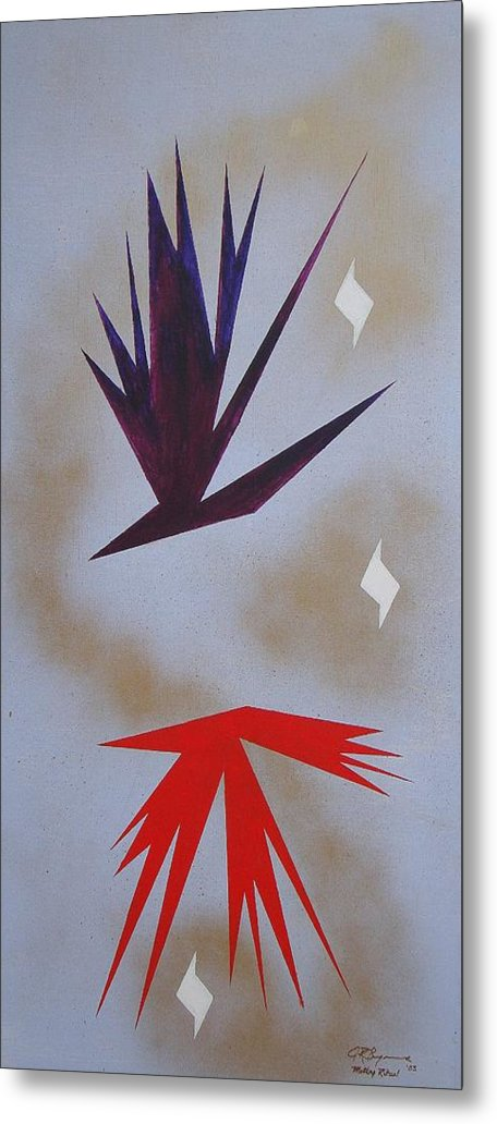 Birds Metal Print featuring the painting Mating Ritual by J R Seymour