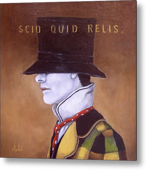 Mab Metal Print featuring the painting Scio Quid Relis by Ixchel Amor