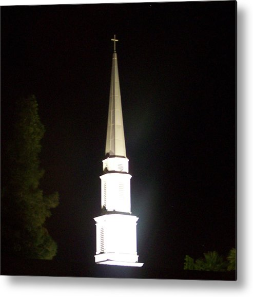 Church Metal Print featuring the photograph The White Spire by Cathy Kaiser