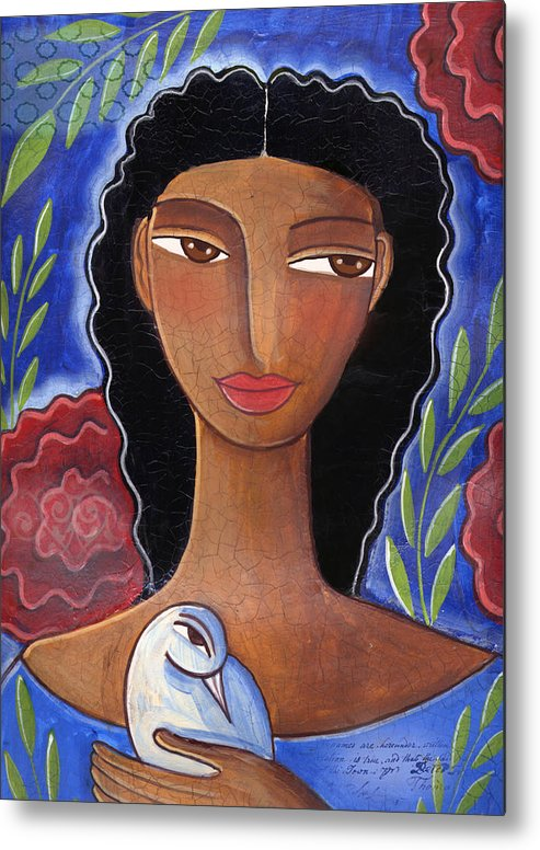 African American Metal Print featuring the mixed media I Know I Can Love by Elaine Jackson