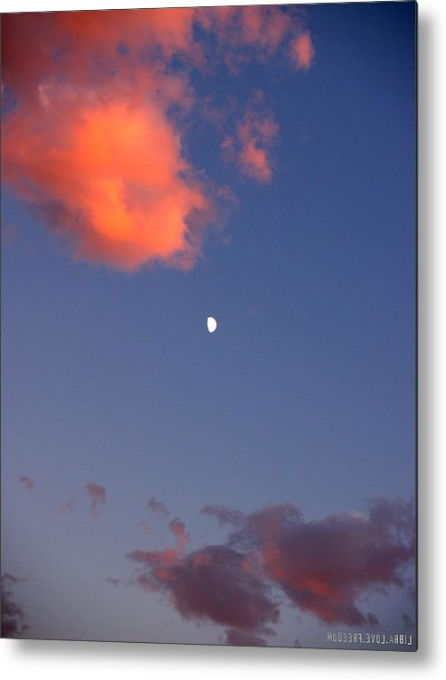 Libra.love.freedom Metal Print featuring the photograph Moon Lit by D Wash
