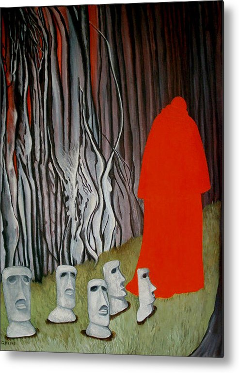 Surreal Metal Print featuring the painting The Cardinal by Georgette Backs