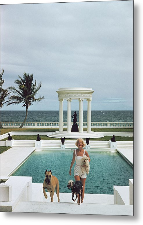 Pets Metal Print featuring the photograph Czs Dogs by Slim Aarons