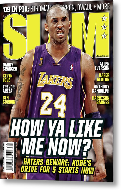 Kobe Bryant Metal Print featuring the photograph How Ya Like Me Now? SLAM Cover by Getty Images