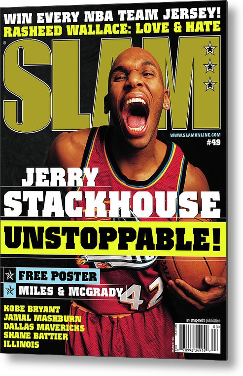 Jerry Stackhouse Metal Print featuring the photograph Jerry Stackouse: Unstoppable! SLAM Cover by Getty Images