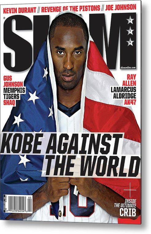 Kobe Bryant Metal Print featuring the photograph Kobe Against the World SLAM Cover by Atiba Jefferson